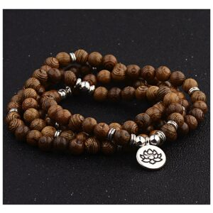 Mala Sandalwood LOTUS 8 mm