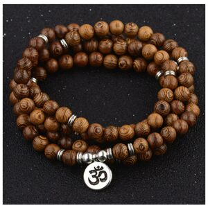 Mala Sandalwood OHM 8mm